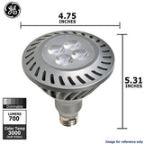 GE 12w PAR38 LED Bulb Dimmable Flood 700Lm Soft White lamp - BulbAmerica