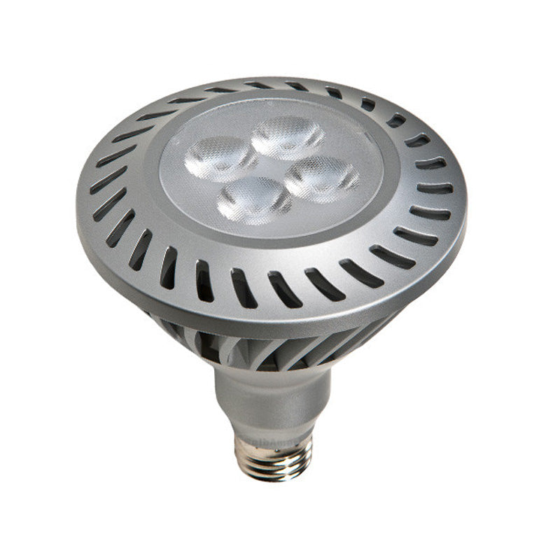 GE 66116 12w PAR38 LED Silver Dimmable Flood FL35 E26 2700K Warm White 120V bulb