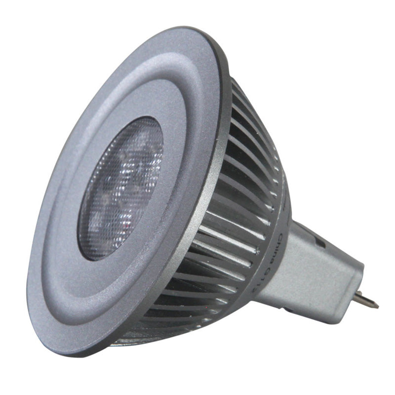 GE 63747 4w LED 2700k MR16 GU5.3 SP15 Spot 15 degree 12v Silver Bulb -20w equiv.