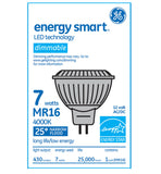 GE 67844 7w MR16 LED GU5.3 Dimmable Narrow Flood NFL25 4000K Cool White 12v lamp - BulbAmerica