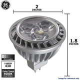 GE 7w MR16 LED Bulb Dimmable Flood 430Lm Cool White lamp - BulbAmerica