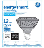 GE 12w PAR30 LED Bulb Dimmable Spot 860Lm Soft White lamp - BulbAmerica
