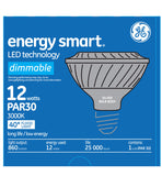 GE 12w PAR30 LED Bulb Dimmable Flood 860Lm Soft White lamp - BulbAmerica