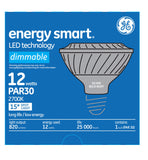GE 12w PAR30 LED Bulb Dimmable Spot 820Lm Warm White lamp - BulbAmerica