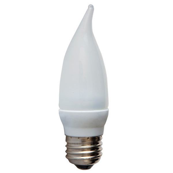 GE 2.2w Frosted LED Bulb Dimmable Warm White 100Lm Candelabra lamp
