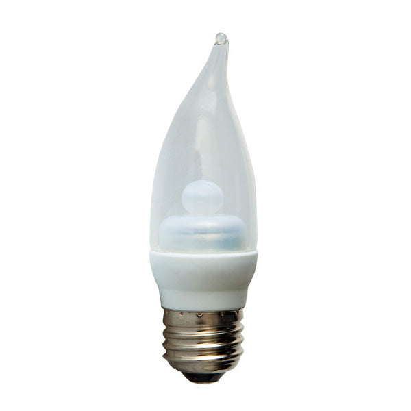 GE 64048 2.2w LED 3000k E26 120v Dimmable Clear Candelabra Light Bulb 15w equiv.