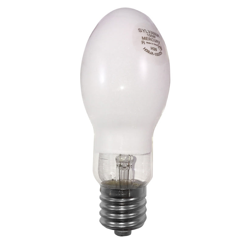 Sylvania 100w H38 ED23.5 Coated Mercury Vapor Lamp   H38JA 100/DX