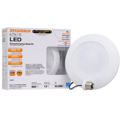Sylvania 13w Dimmable LED 900Lumen 3000K Recessed and Surface Mount Downlight Kit