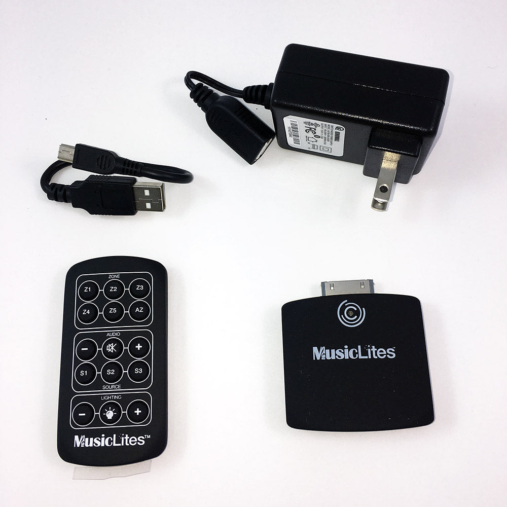 Sylvania MusicLites transmitter for iPod/iPhone/iPad with remote