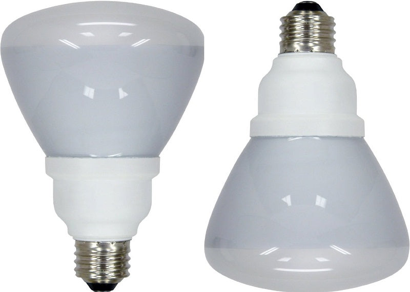 2 Pack - Ge 15w 120v 2700k R30 E26 Flood Compact Fluorescent Light Bulbs