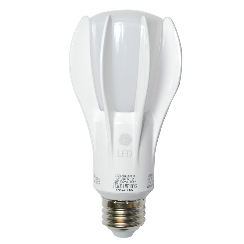 GE 73384 12W LED Dimmable A21 3000K E26 A-Shape 1100lm Jelly Jar Lamp Light