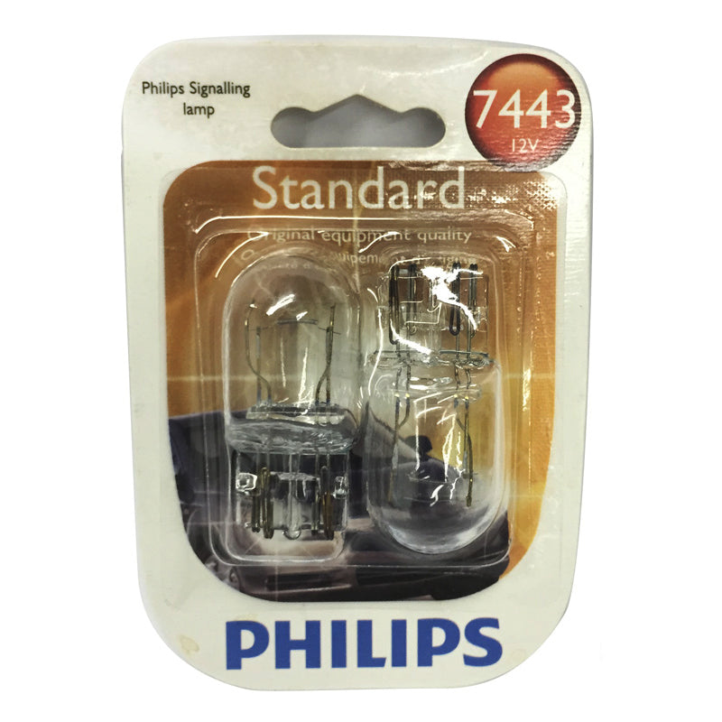 Philips  7443 - Standard Halogen Original Equipment Quality Automotive - 2 Bulbs /Pack
