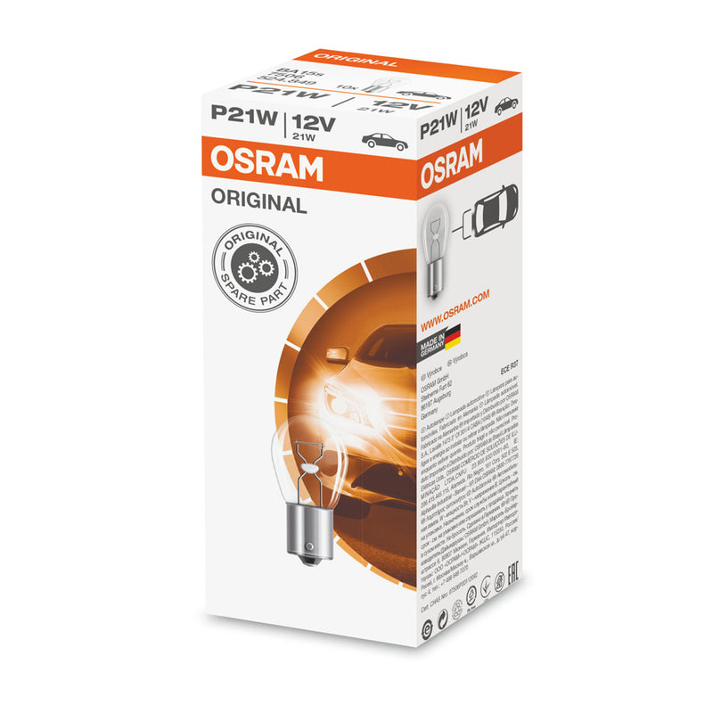 10-PK Osram 7506 P21W 12V 21W Original High-Performance Automotive Bulb