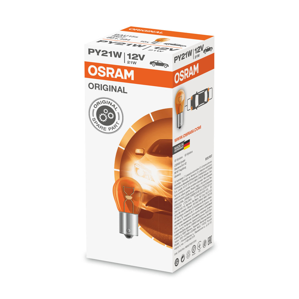 10PK - Osram 7507 PY21W 12V  BAU15s ORIGINAL High-Performance Automotive Bulb