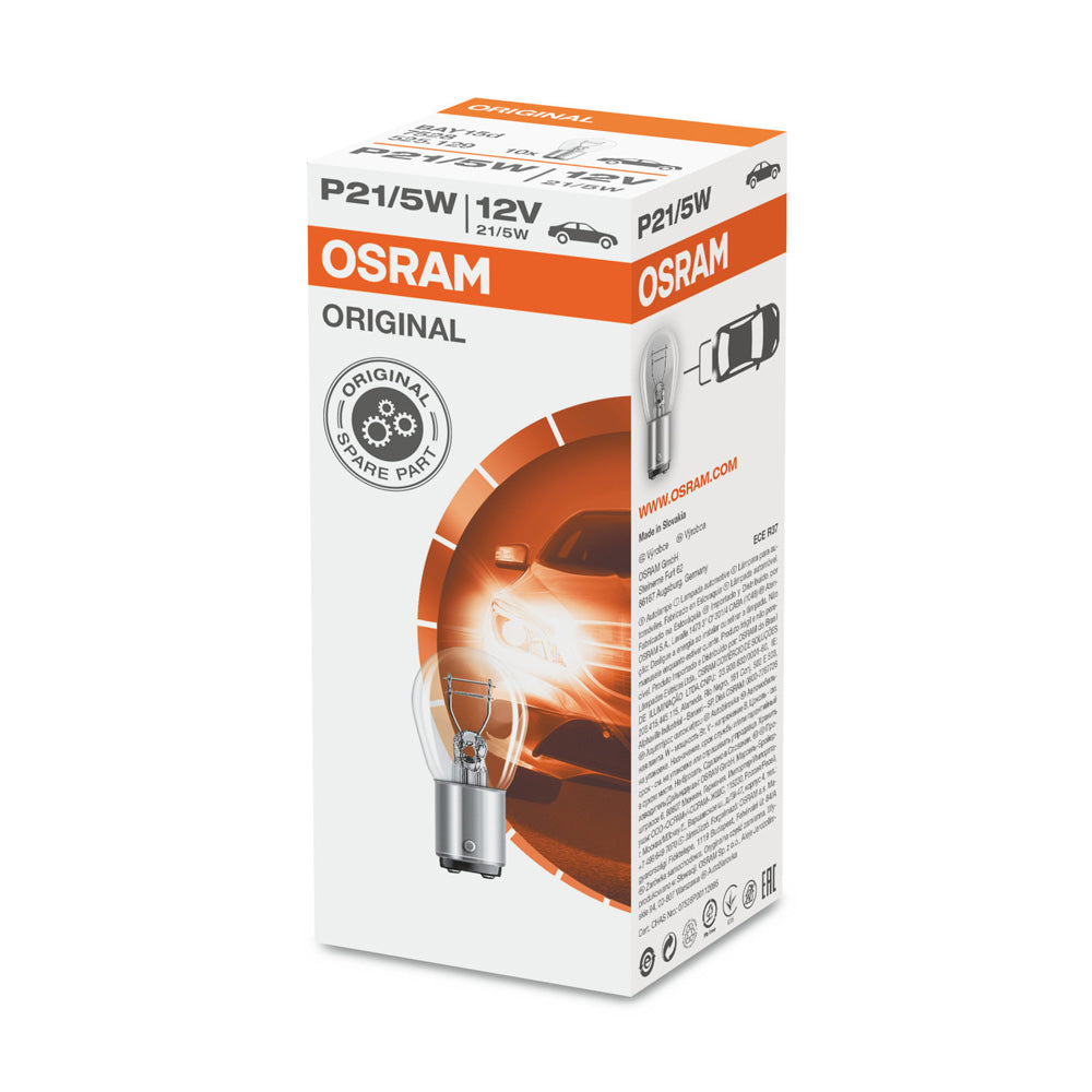 10PK - Osram 7528 P21/5W 12V BAY15d ORIGINAL High-Performance Automotive Bulb