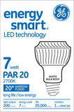 GE 7w PAR20 LED Bulb Warm White Narrow Flood 200Lm White lamp - BulbAmerica