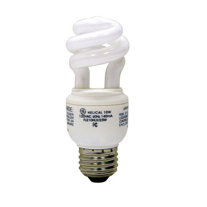 GE 10W T3 Compact Fluorescent Bulb