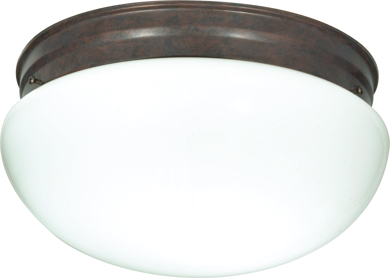 "2-Light 12"" Flush Mounted Close-to-Ceiling Light Fixture in Old Bronze Finish"