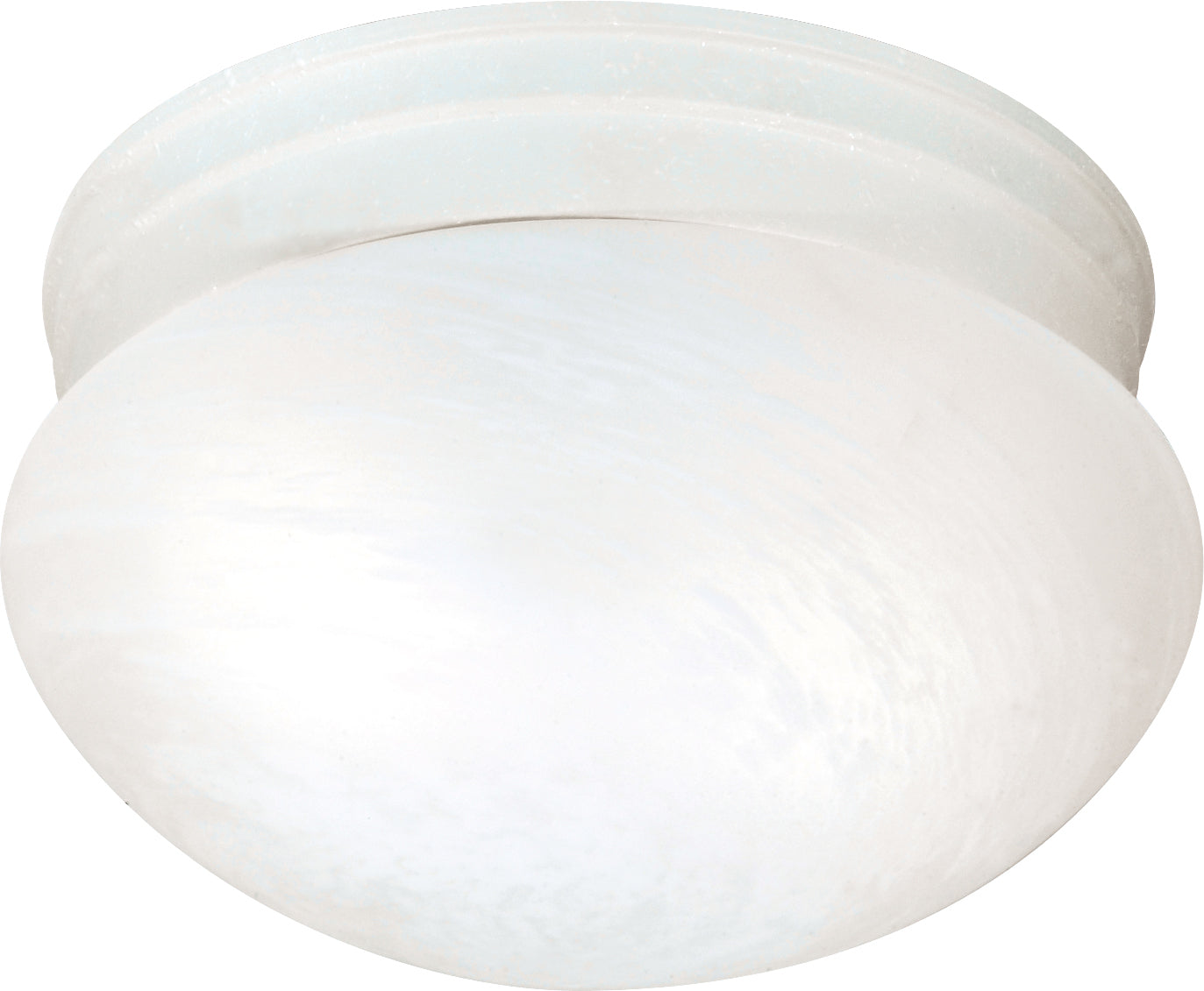 """2-Light 10"""" Flush Mounted Close-to-Ceiling Light Fixture in Textured White"""