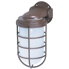 "1 Light - 10"" - Industrial Style - Wall Mount w/Frosted Glass"
