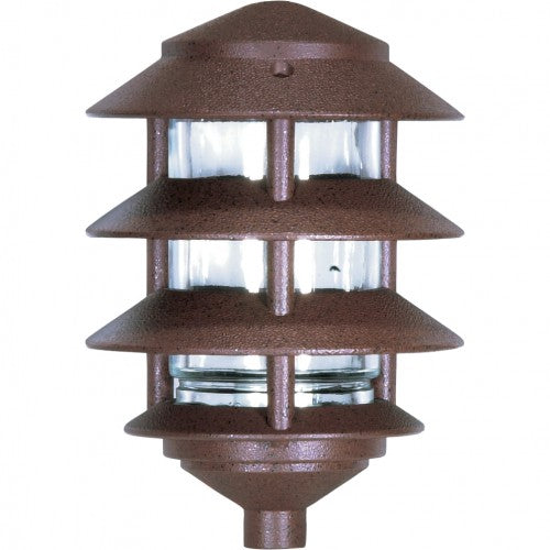 Nuvo 4-Tier PathLight Landscape Pagoda Light Fixture Old Bronze Finish