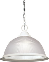 "1 Light - 15"" - Pendant - Frosted Prismatic Dome"