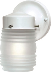 "1 Light - 6"" - Porch, Wall - Mason Jar w/Frosted Glass"