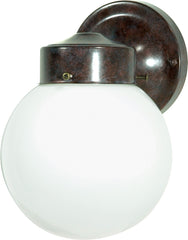 "1 Light - 6"" - Porch, Wall - With White Globe"
