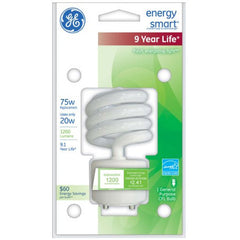 GE 20W CFL GU24 Plug-In base Soft White Compact Fluorescent bulb