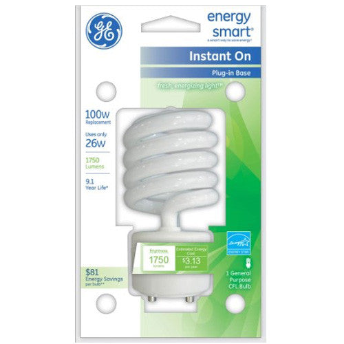GE 26W CFL GU24 Plug-In base Soft White Compact Fluorescent bulb