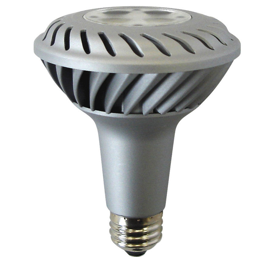 Ge 10w 120v PAR30L 2700k 24 deg Silver LED Light Bulb
