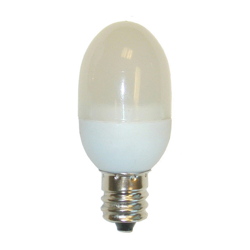 GE 0.5w C7 Frosted LED lamp Warm White Candelabra Base - 2 bulbs