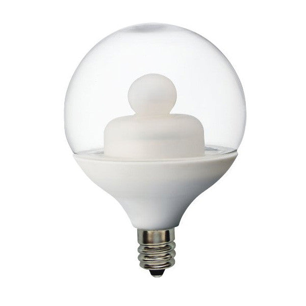 Ge 2w 120v Globe G16.5 Clear 2900k LED Light Bulb