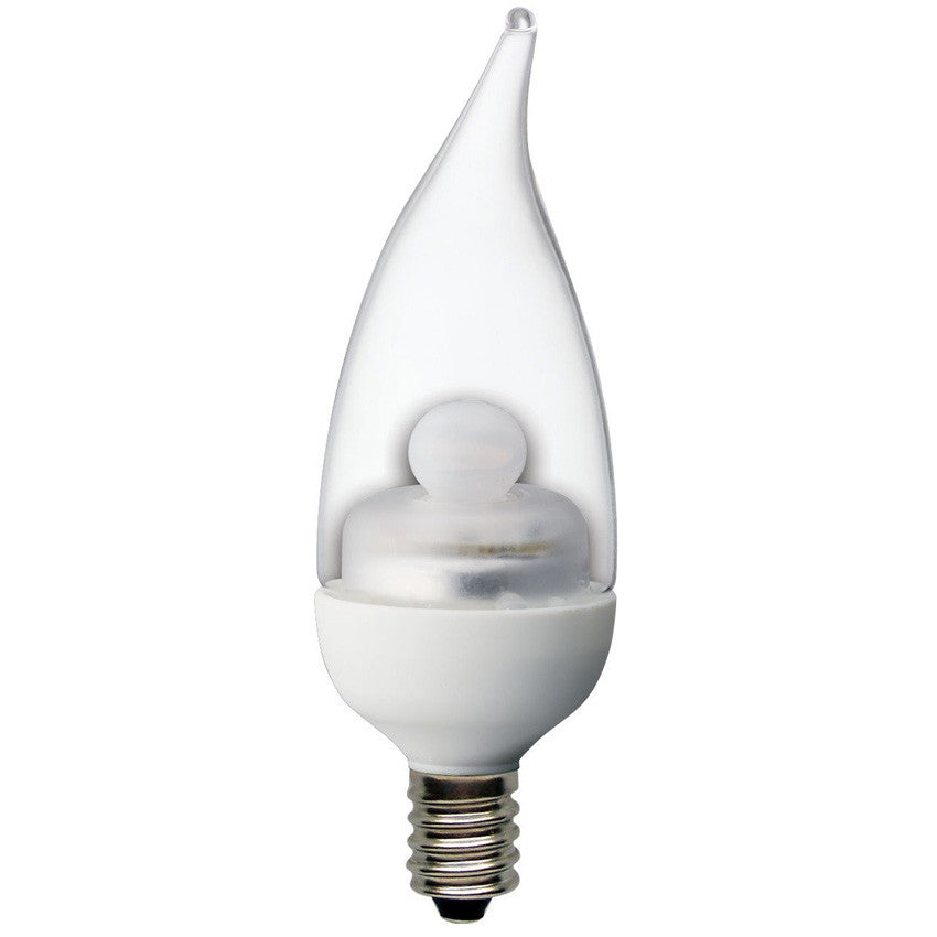 Ge 2w 120v Flame Clear E12 2900k Candelabra LED Light Bulb