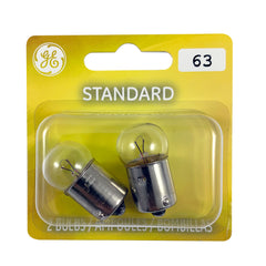 GE 12321 63 - 4w 12v G6 BA15s Automotive Miniature Bulb - 2 Bulbs