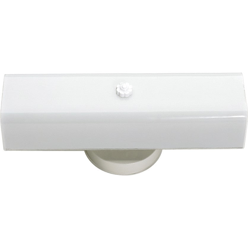"2-Light 14"" Wall Mounted Vanity Light with White ""U"" Channel Glass"