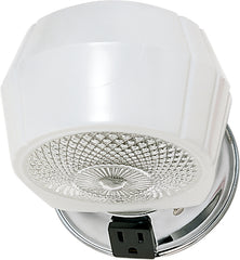 "1 Light - 5"" - Vanity - w/White, Crystal Bottom Shade & Conv Outlet"