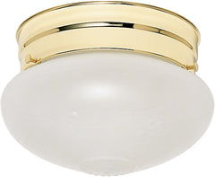 "1 Light - 6"" - Flush Mount - Small Frosted Grape Mushroom"