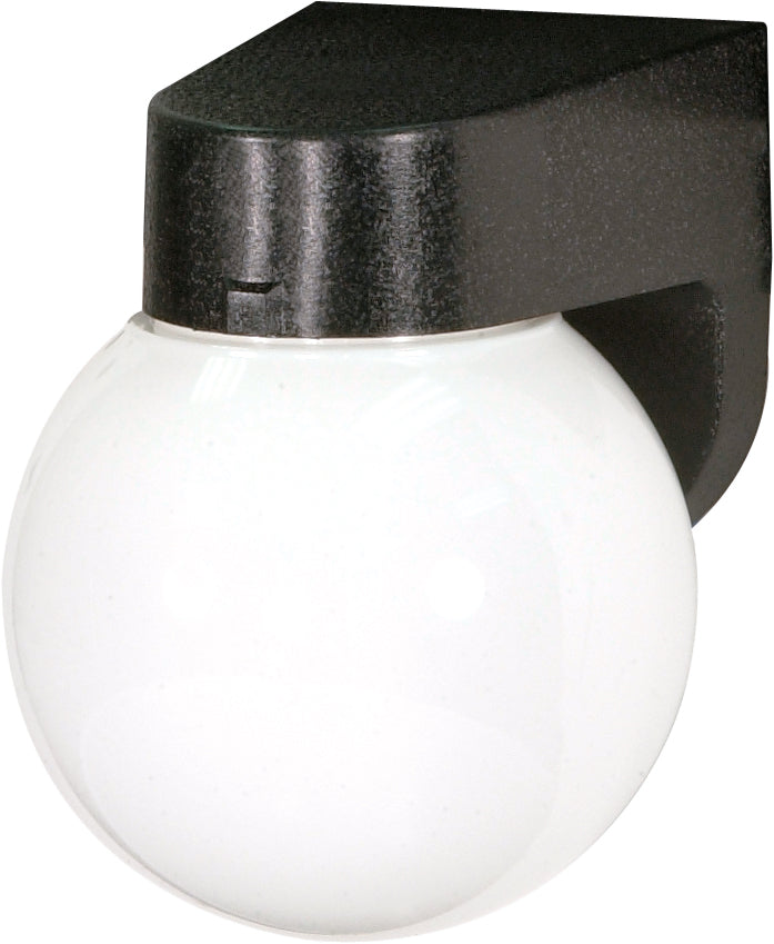 "1 Light - 6"" - Porch, Wall - With Lexan Globe"