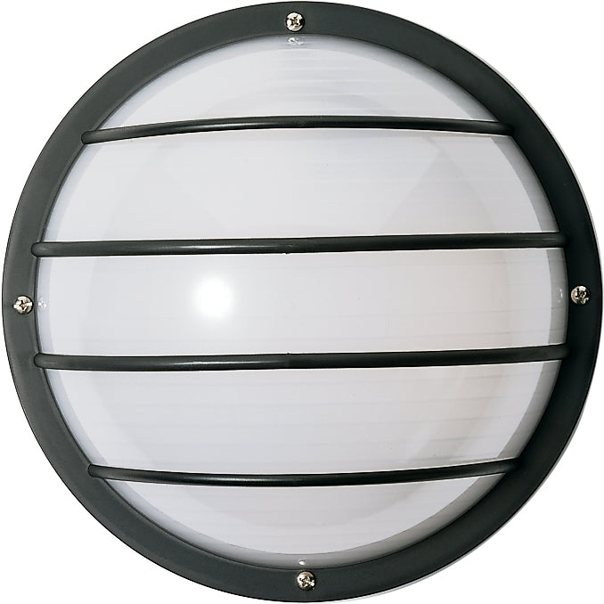 "Nuvo 1-Light 10"" Round Cage Outdoor Wall Light w/ Polysynthetic Body & Lens"