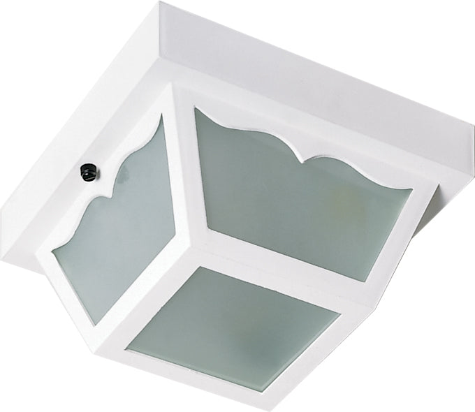 "1 Light - 10"" - Carport Flush Mount - With Frosted Acrylic Panels"