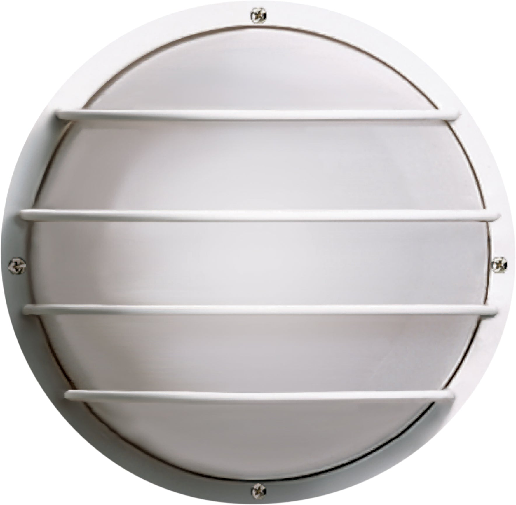 """Nuvo 2-Light CFL 10"""" Round Cage Wall Fixture 9w Twin Tube INCL in White Finish"""