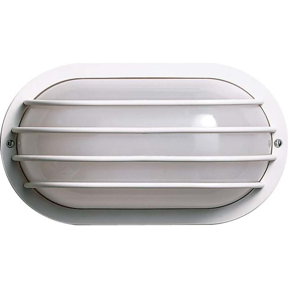 "1 Light Cfl - 10"" - Oval Cage Wall Fixture - (1) 9W Twin Tube Incl"