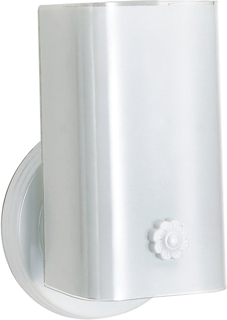 """1 Light - 7"""" - Vanity - w/White """"U"""" Channel Glass without outlet"""