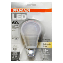 Sylvania 10W A19 LED Soft White 800Lm Light Bulb - 60w Equiv.