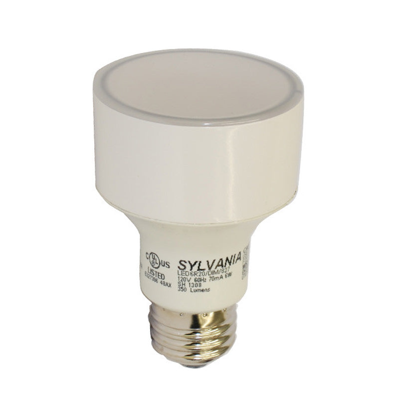 R20 Dimmable LED 6w 120v E26 2700K Osram Sylvania Light Bulb