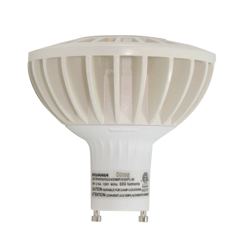 PAR30 GU24 Dimmable LED 15W Flood 3000K Sylvania Ultra HD Light Bulb
