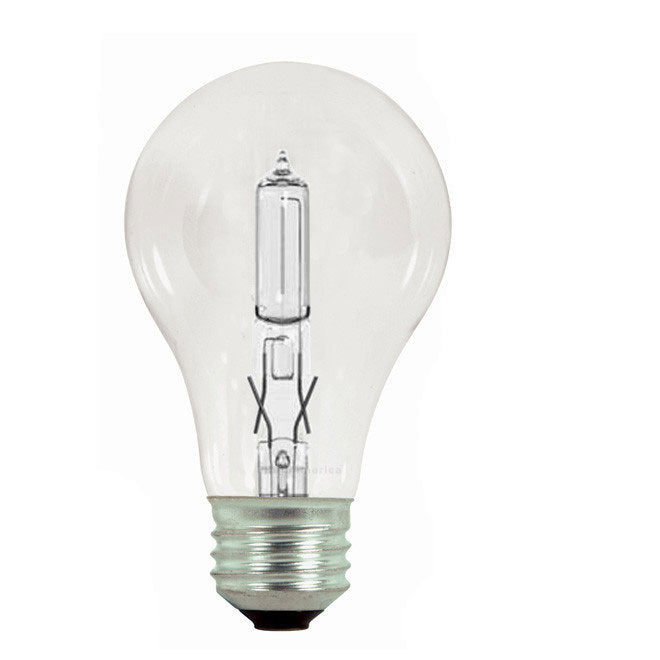 GE 43W A19 Halogen Clear Energy-Efficient - replace 60w Incand -2 bulbs