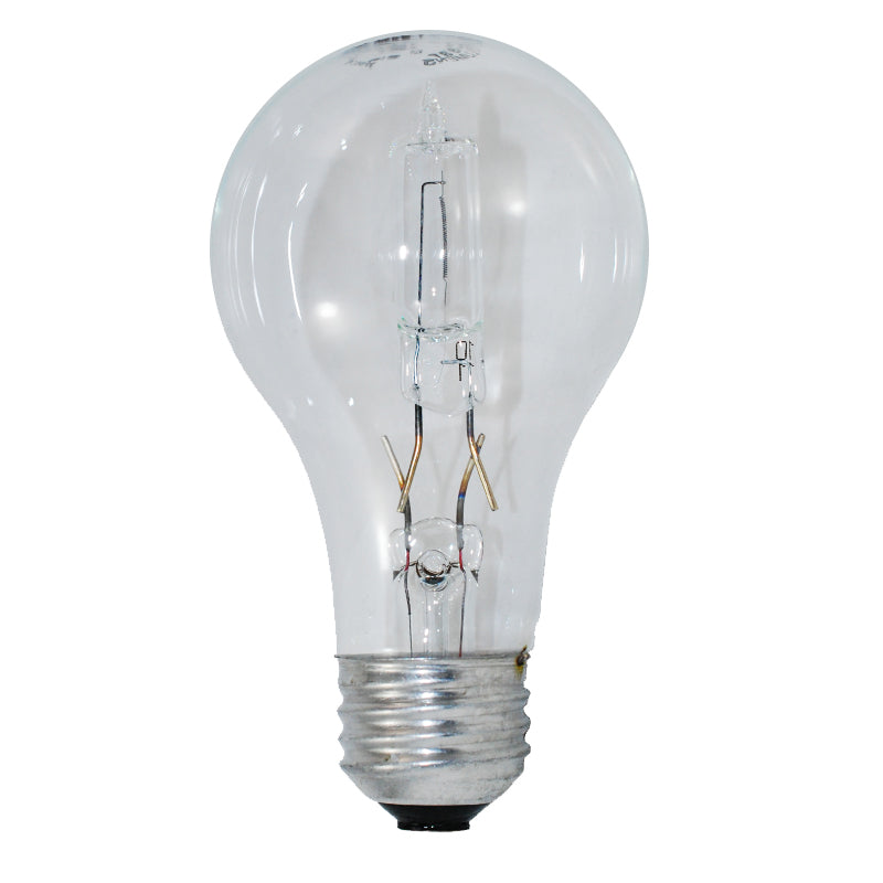 GE 53W A19 Halogen Clear Energy-Efficient - replace 75w Incand - 2 bulbs