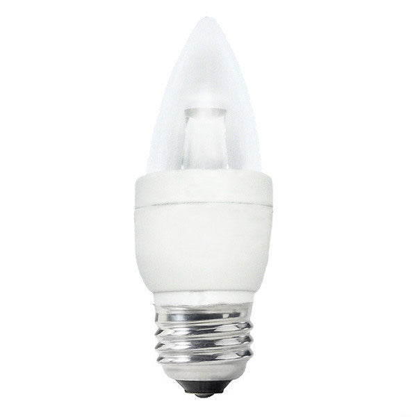 Sylvania 4w 120v B10 E26 Bent Tip Dimmable LED Light Bulb x 6 pack